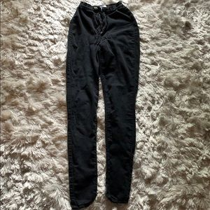 Faded black high waisted jeans